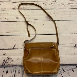 RELIC Genuine Leather Brown Crossbody Bag